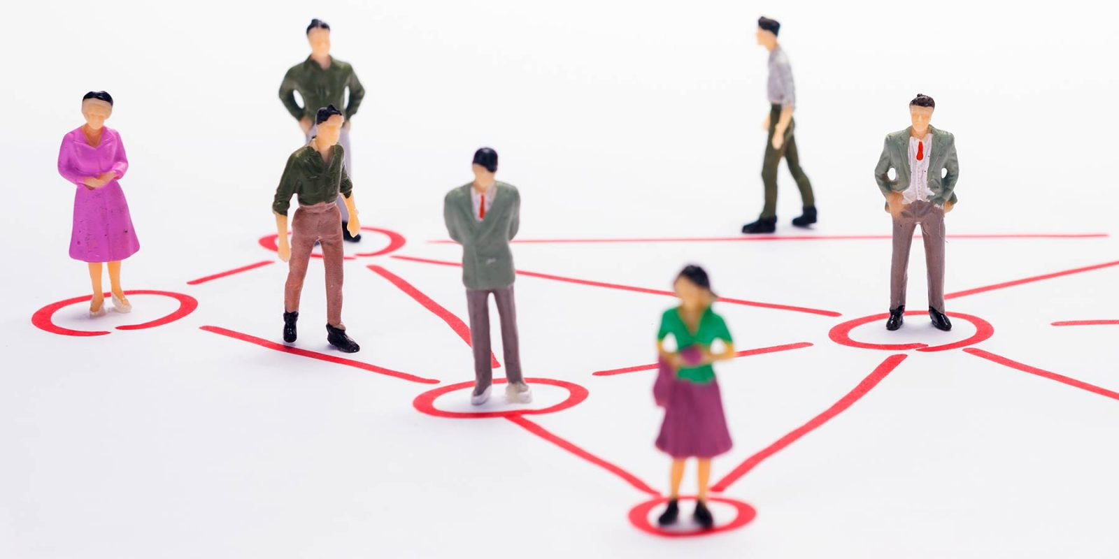 "Konzeptfoto ""Team"" mit Miniaturfiguren"
